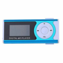 Mini 1.3 LCD Display MP3 Player Clip Type Portable MP3 Player With Speaker Function Support TF Card Flashlight Brand #1025(China)