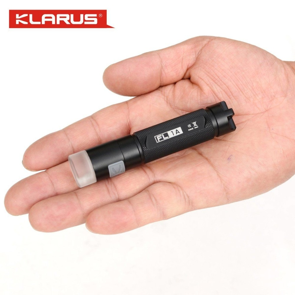 Klarus FL1A Led Light CREE XP-G2 LED Flashlight with Red White Green UV Light 65 lumens by AA Battery torch sport car style 2 led white light flashlight keychain w sound effect red 4 x lr41