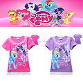 3-8 years my little girl pony t-shirt cartoon children girl's t shirt pony high quality my little baby girls pony tshirt