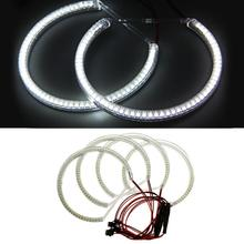 4 UNIDS CARCHET Angel Eyes 60 SMD 3528 LED Halo de Luz para BMW E36 E38 E39 E46 Coches Luces de Repuesto Blanco 7500 K