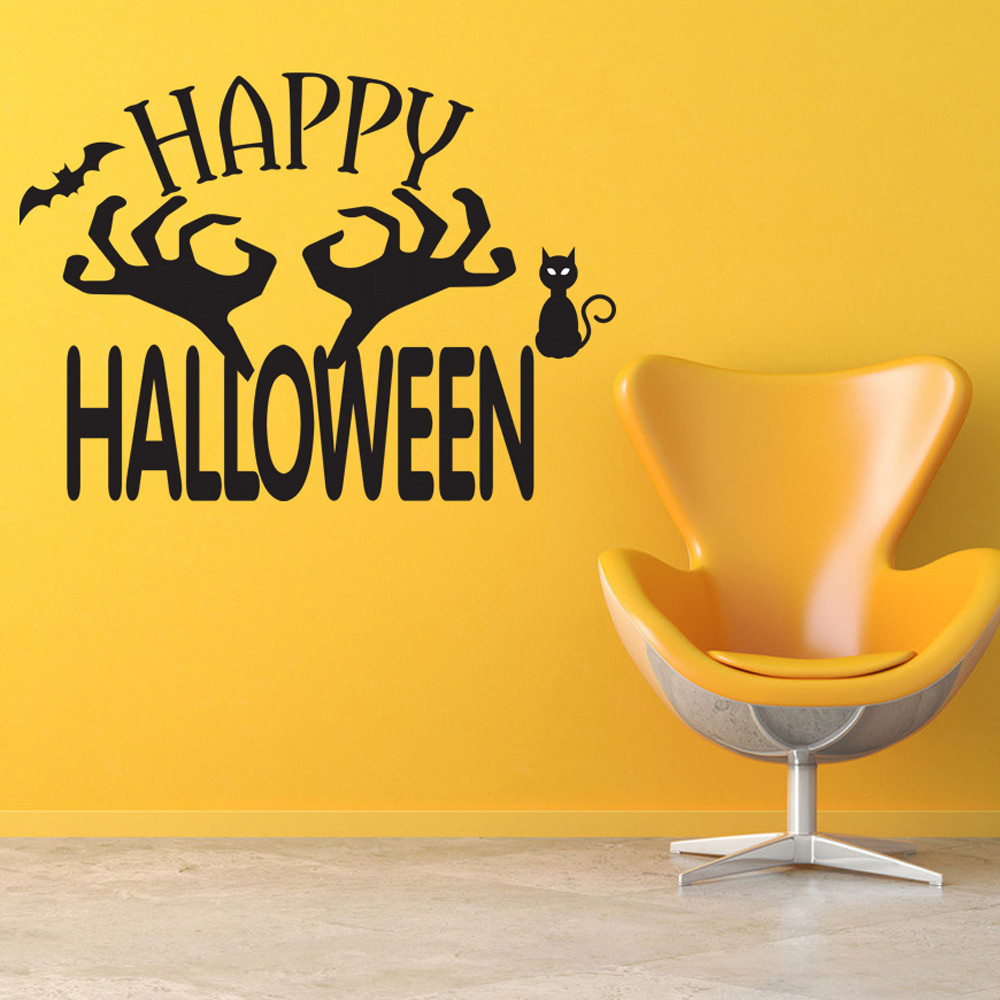 new decoracion halloween wall stickers home decor posters wall decals vinilos paredes party decoration supplies
