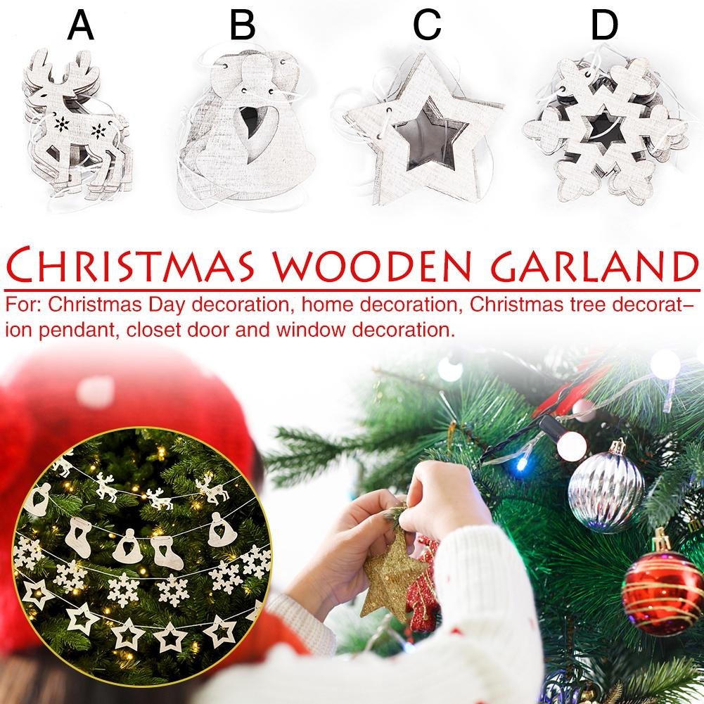Christmas Decorations Supplies Christmas Garland Pendants Christmas Tree Cutouts Decoration In Tree Toppers From Home Garden On Aliexpress Com