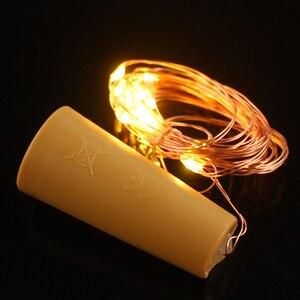 Image 4 - 2M 20 LED Copper Wire String Light with Bottle Stopper for Glass Craft Bottle Wedding Decoration Christmas string lights