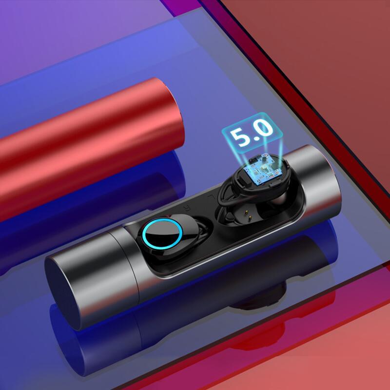 TWS True écouteur sans fil contrôle tactile Bluetooth 5.0 écouteurs Mini écouteur stéréo écouteurs pour IOS Android téléphone intelligent avec micro