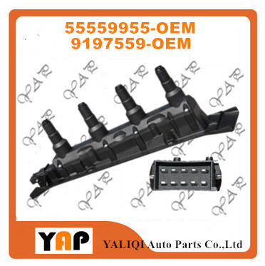 New High Quality Ignition Coil FOR FITSaab 9-3 9-5 2.0L 2.3L L4 55559955 55562588 9197559 1999-2009