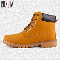 ROXDIA Faux Suede Leather Men Boots Spring Autumn And Winter Man Shoes Ankle Boot Men S