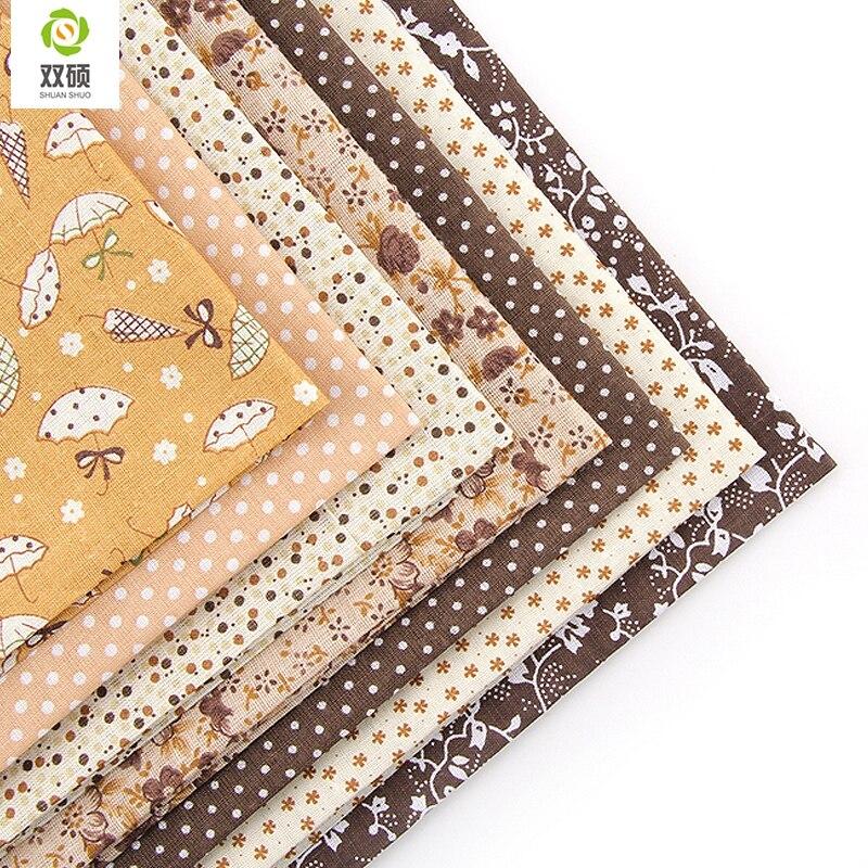 Thick 6Pcs 10 x 10 Cotton Fabric DIY Making Supplies Quilting Patchwork Fabric Fat Quarter Bundles DIY for Quilting Patchwork Cushions Cotton Fabric for Patchwork 10 x 10, Fruit