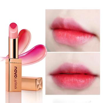 Novo Orange Lipgloss Mixed 2 Color Lip Stick Moisturizing Matte Lipstick Korean Cosmetics Waterproof Crayon Lip Balm T35 lip color lip balm