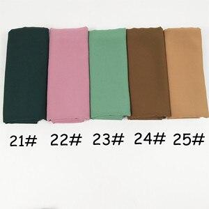 Image 5 - H65 100 шт хит продаж шифоновый хиджаб, мусульманский шарф, лучшая шаль 180*75 см можно выбрать цвета