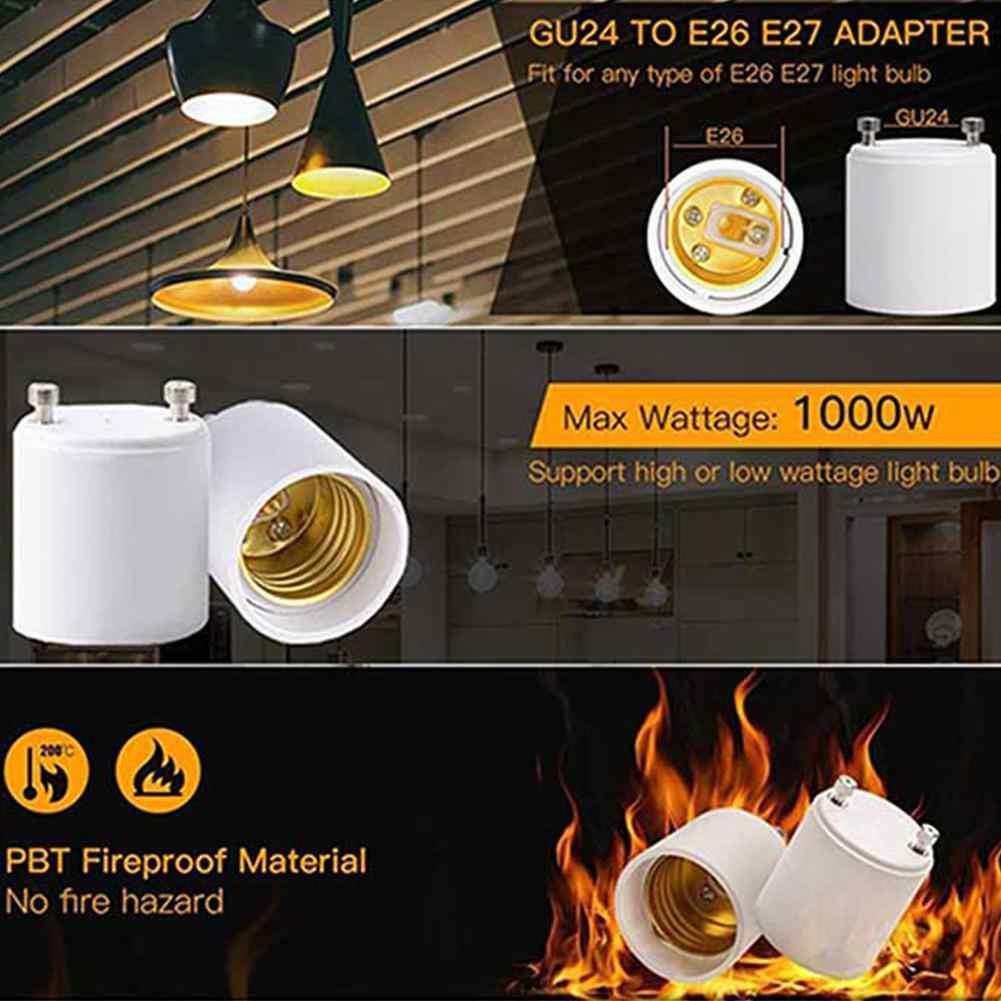 LumiParty 10 шт. GU24 для E26/E27 держатель лампы Белый конвертер патрон для лампочки для гостиницы гостиная поставки