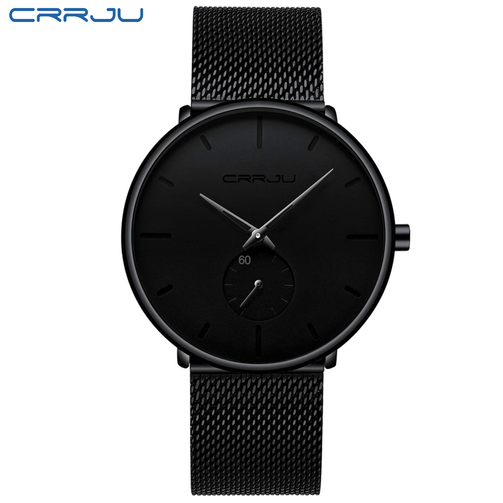 Men Watch CRRJU Watch Women and Top Brand Luxury Famous Dress Watches Fashion Unisex Ultra Thin Wristwatch Relojes Para Hombre HTB1TXPVOHvpK1RjSZFqq6AXUVXaA