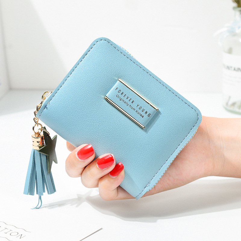 Wallet Women 2019 New Women's Fashion Purse Leather Short Zip Wallet Card Holder Soft Leather Coin Purses Female Clutch Cartera