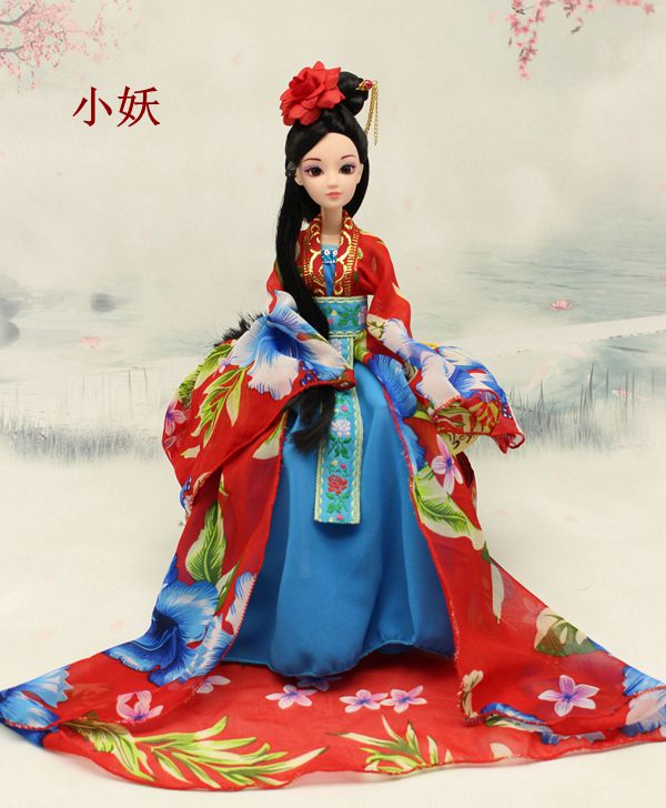Ancient China Doll Toy Princess 12 Movable Joints Dolls Model Accessories Plastic Body Soft Clothes Kids Gifts Dolls For Girls