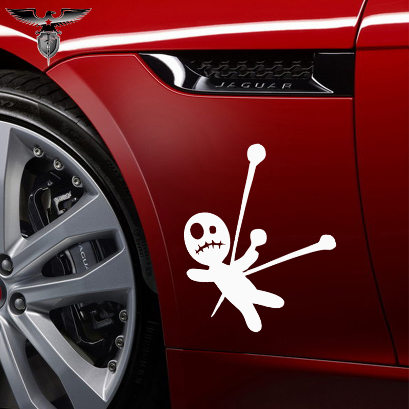 EmpireYing 3 Size 8 Colors Happy Funny Wizard Witchcraft Ragdoll Voodoo Doll Wicca Pagan Car Sticker Door Wall Decor Decal Gifts-in Car Stickers from Automobiles & Motorcycles