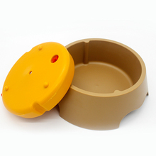 Pet Dog Drinking/Feeding Bowl Not Wet Mouth Puppy Tray Multifunctional Dual-Use Drinking Fountain Cats Dogs Food Dish Feeder