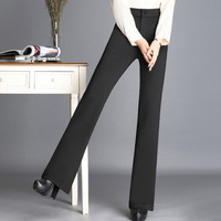 2017 new autumn and winter Fashion casual plus size velvet warm Elastic high waist female women girls flare pants clothes 79107