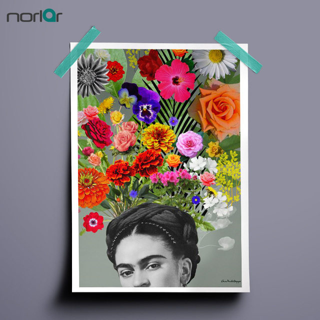 Aliexpress.com : Buy HD Printed Art Canvas Print Poster FRIDA KAHLO ...