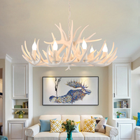 American Country Living Room Bedroom led Chandelier Internet Bars Clothing Stores Retro Restaurant Creative Antlers Chandeliers