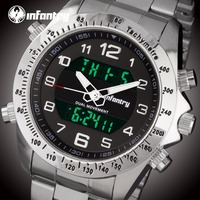 INFANTRY Mens Watches Top Brand Luxury Tactical Military Watch Men Analog Digital Watch for Men Army Pilot Relogio Masculino