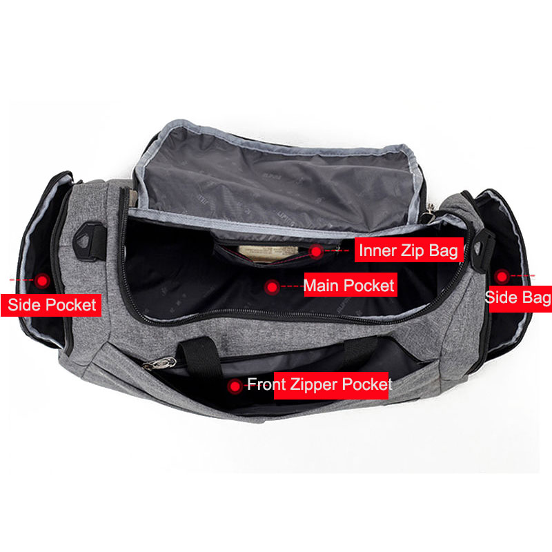 ea228dd549ee Unisex Gym Bag Travel Outdoor Shoulder Bags Handbag Sports Duffel Men  Crossbody Large Storage Luggage Sac De Sport New XA492WA-in Gym Bags from  Sports ...