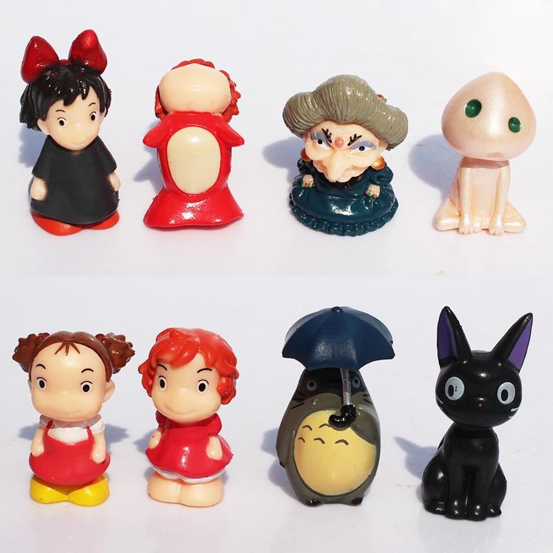 Oyuncaklar ve Hobi Ürünleri'ten Aksiyon ve Oyuncak Figürleri'de Yeni 10 setleri 8 adet/lset Hayao Miyazaki komşum Totoro Kiki Teslimat Hizmeti Ruhların Kaçışı Prenses Mononoke ücretsiz kargo'da  Grup 1