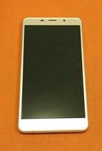 """בשימוש המקורי LCD תצוגת מסך + מסך מגע + מסגרת עבור Leagoo M8 MT6580A Quad Core 5.7 """"HD 1280x720 משלוח חינם"""