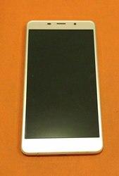 Używany oryginalny ekran z wyświetlaczem lcd + ekran dotykowy + rama dla Leagoo M8 MT6580A czterordzeniowy 5.7