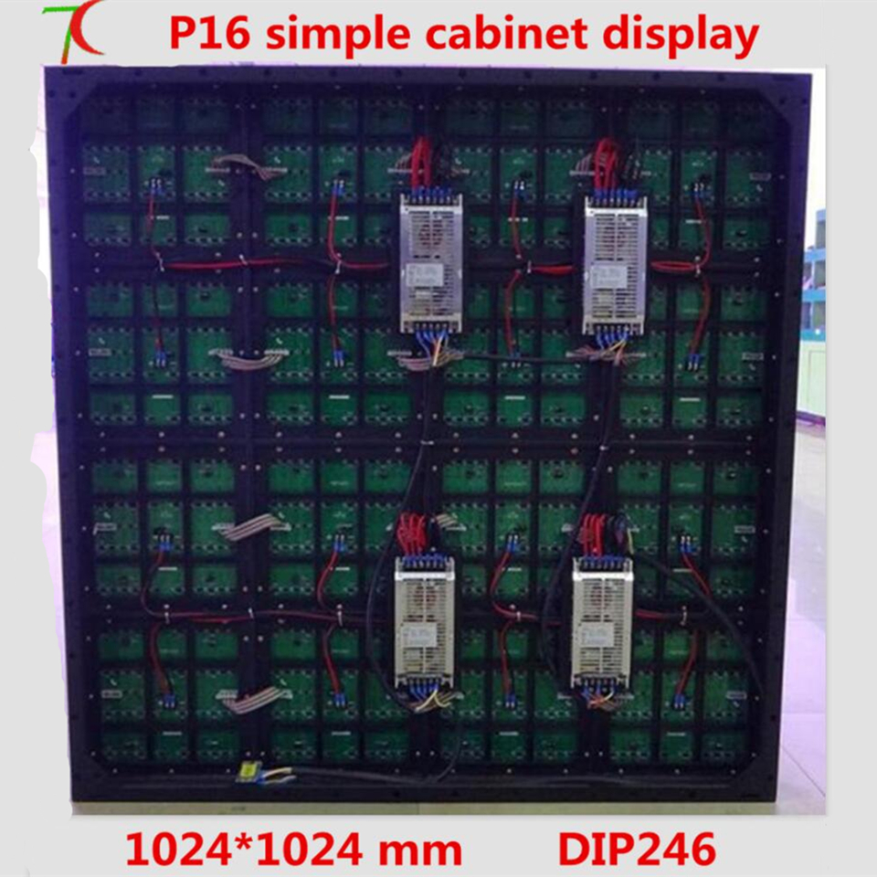 P16 simple cabinet full color led display for outdoor advertisement