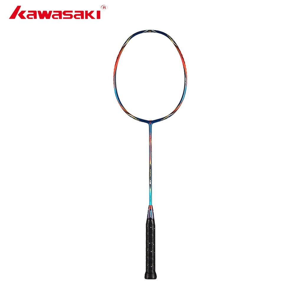 Raquette de Badminton originale Kawasaki 2019 King K9 tout autour Type T raquettes en Fiber de carbone pour joueurs intermédiaires