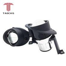 TAOCHIS 2.5 della luce di nebbia xenon HID lente del proiettore Per Il CADDY TOURAN POLO VENTO CITIGO VOLKSWAGEN H11 lampada della nebbia