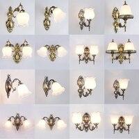 Modern LED Wall Lamp Wall sconce Light Hallway Bedroom Bedside Light flaxen/black/white