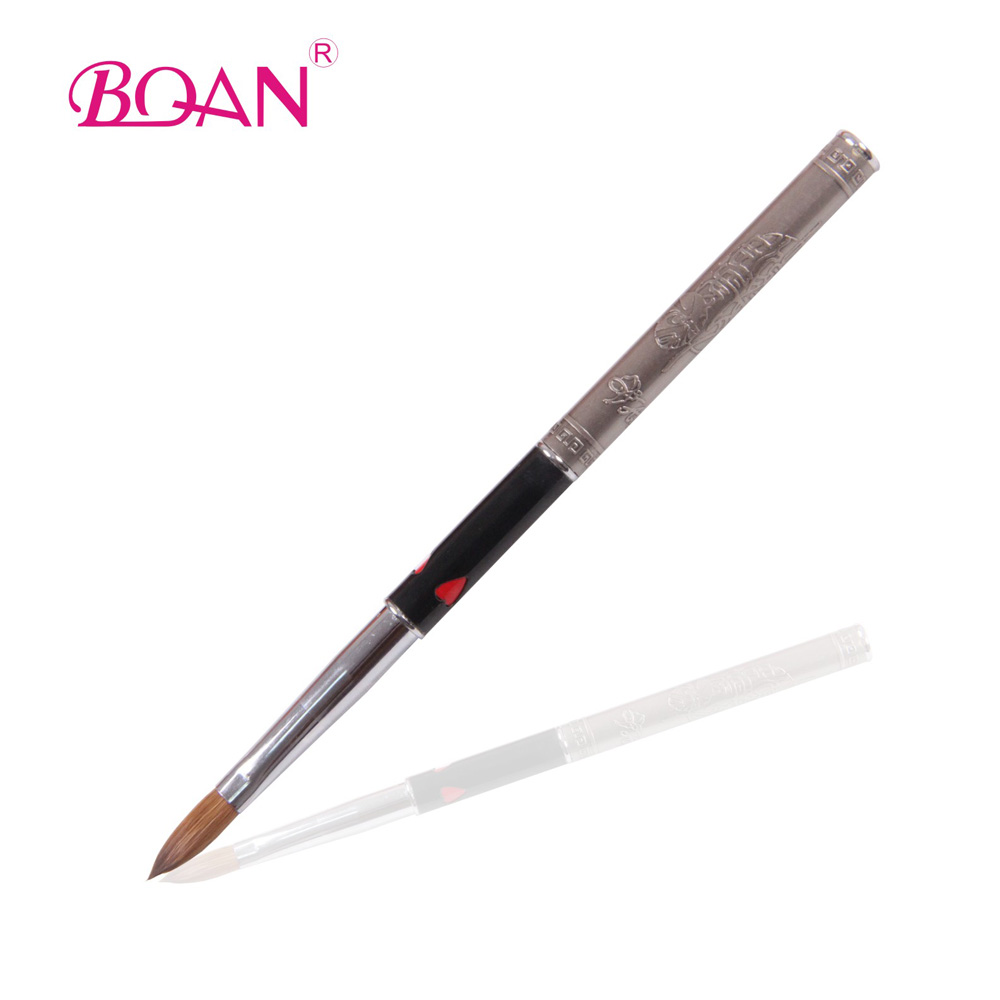 Wholesale Metal Handle Oval Shape Kolinsky Nail Acrylic Brush Size ...