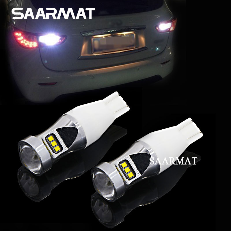 Pair T15 W16W 921 912 LED Bulbs 1800LM Backup Reverse Light Canbus Error Free For VW Polo Golf 4 5 7 6 3 Beetle Passat B5 B6 B7 2pcs high quality superb error free 5050 smd 360 degrees led backup reverse light bulbs t20 for hyundai i30