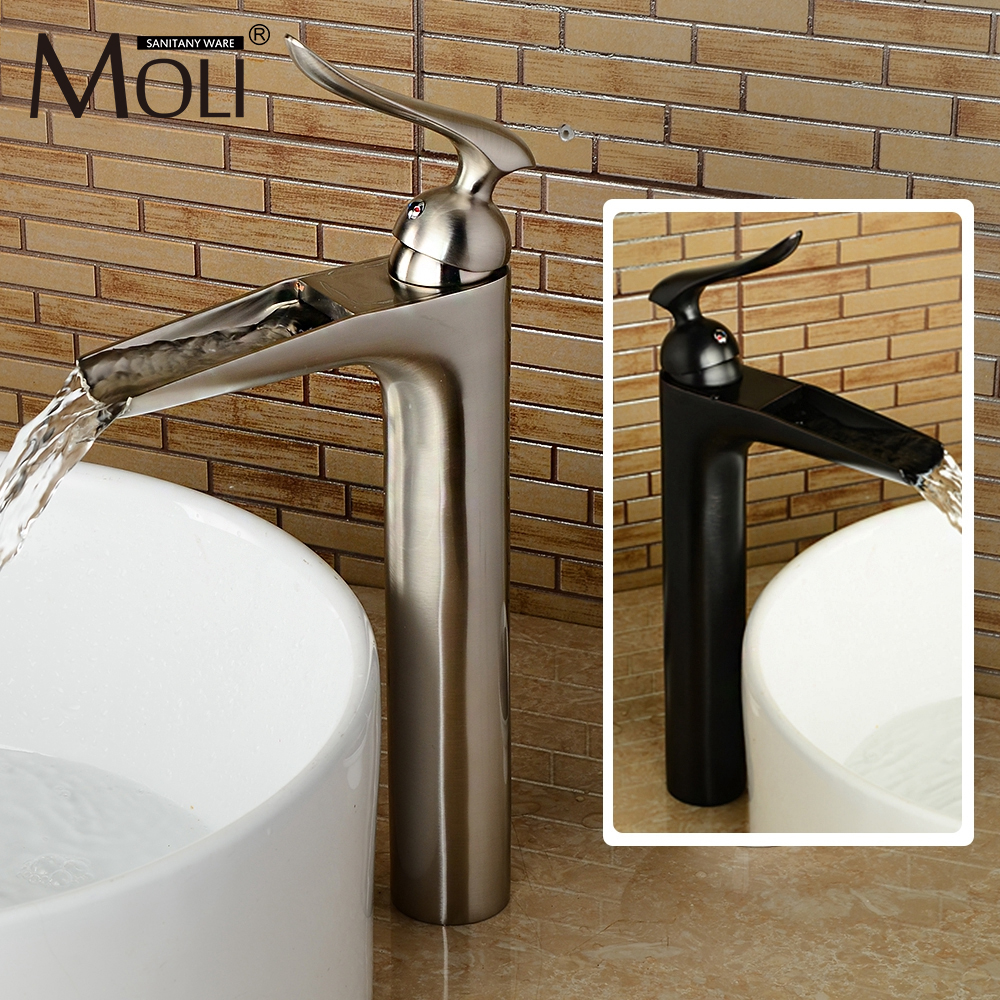 2016 New Style Brushed Nickel Bathroom Sink Faucet Soild Brass Single Handle Single Hole