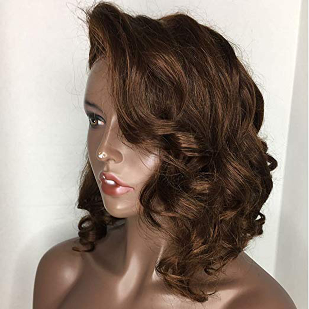 Eversilky Highlights Short Bob Wig 360 Lace Frontal Human Hair Wigs For Women Brazilian Body Wave Free Part Wig Remy Hair