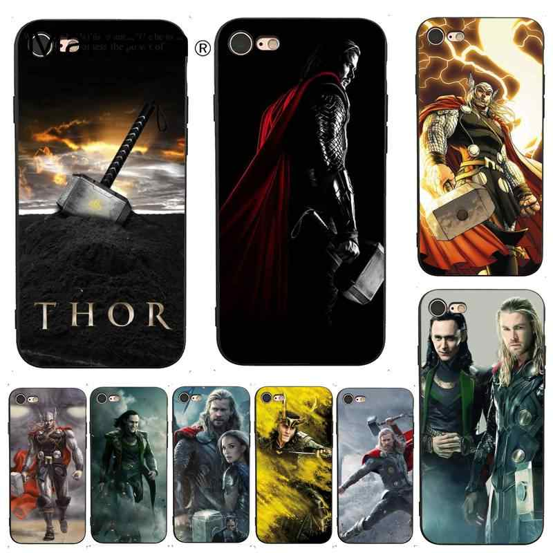MaiYaCa For iphone 7 6 X Case Loki Thor Hot Selling Design Skin Thin Cell Phone Case for iPhone X 6 7 6s 7plus 8 8Plus XS XR 5C
