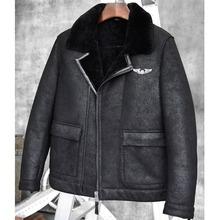 Sheepskin Bomber Jacket Shearling Coat Mens B 6 Fur Coat