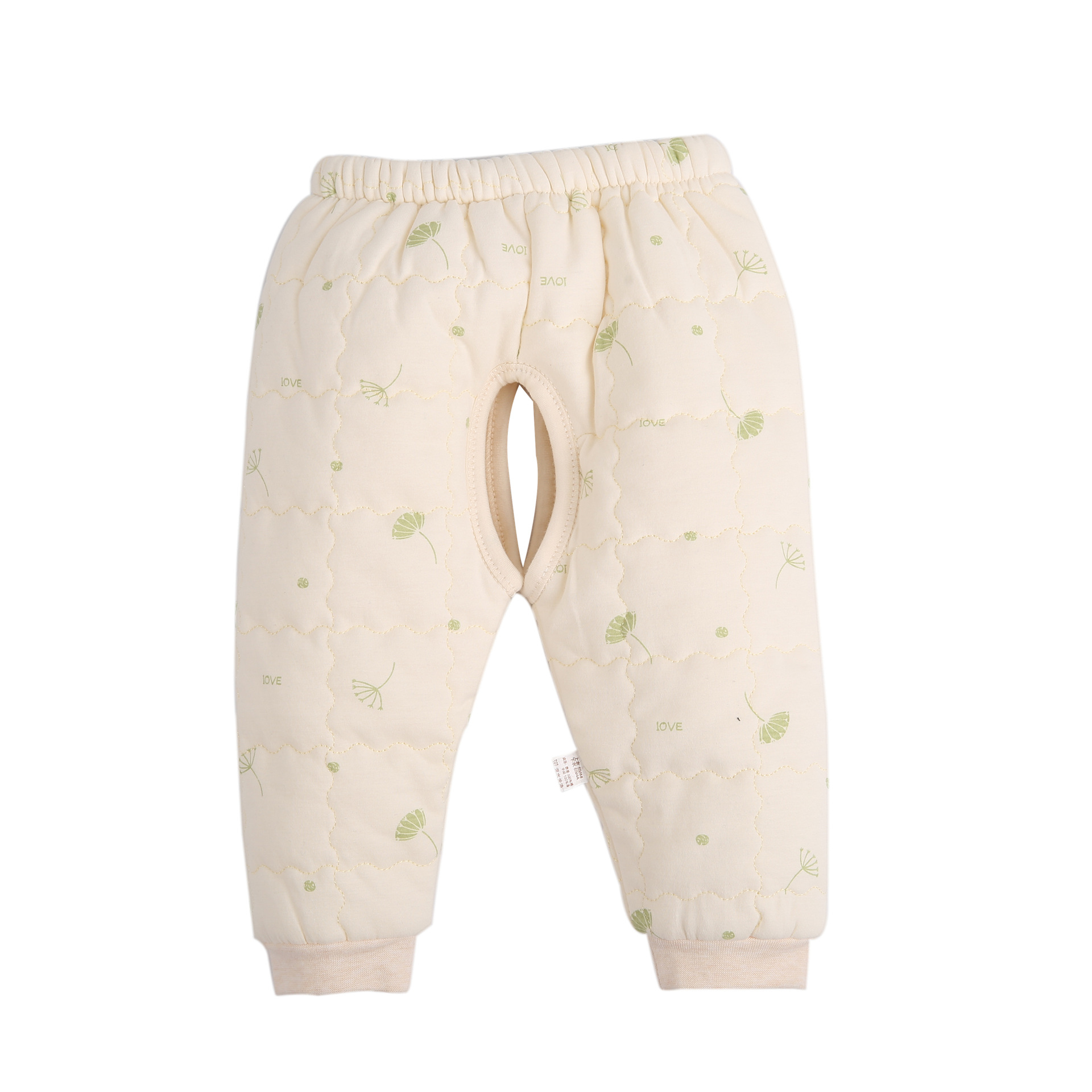 Baby thermal underwear quilted slanting front lace up cotton padded