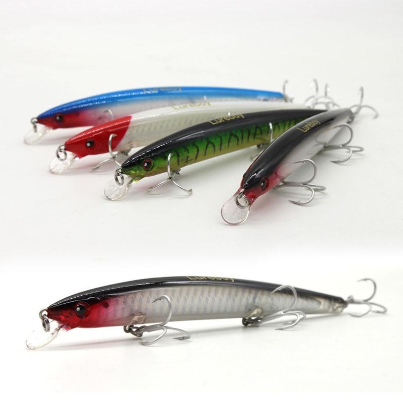Fishing Lure Super Long Range Casting Trolling Laser Minnow 10cm/7.5g 13cm/14g Shallow Water Lot 2 Pieces