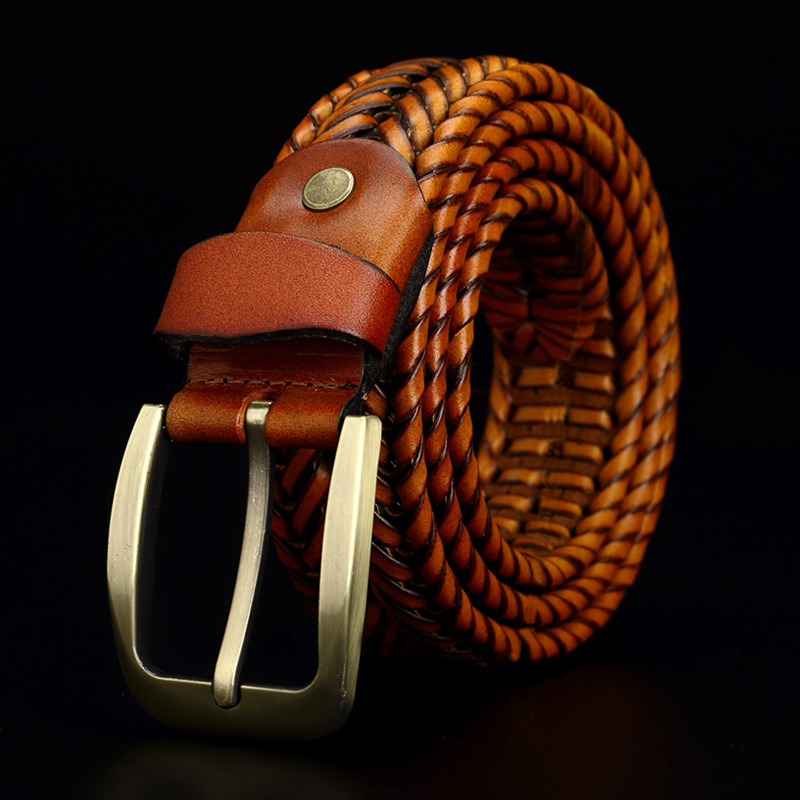 JOYLEISWAY Genuine leather   belt   male Braided Strap for Man Fashion Designer mens   belts   luxury High quality girdle for jeans