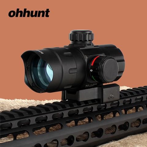 ohhunt equipamento de caca red green dot sight scope tatico com qd montar adaptador riser