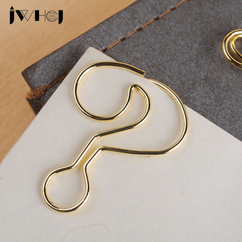 10 pcs/lot novel golden question mark shape paper clip material escolar bookmarks for books stationery school supplies papelaria