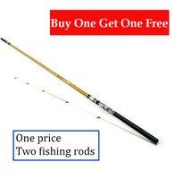 Buy One Get One Free High Quality Fiberglass Lure Rod Short Fishing Rod Power H Fishing Pole 1.3/1.5/1.8/2.1m Fishing Tackle