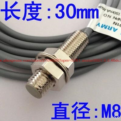 100% NEW FM08-01NS Metal Proximity Switch Length 30mm Counting Sensor