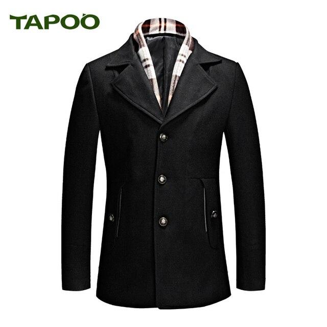 f361702eca0 Lana para hombre abrigo con la bufanda caliente cazadora Otoño Invierno  2018 Abrigos moda ropa cómoda