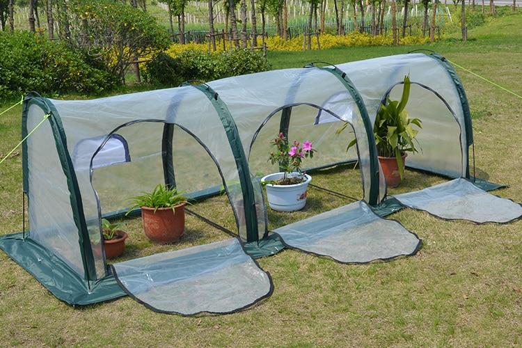 Dobrável pe glassfuls carne casa de isolamento resistente à água-flor de decoração para casa jardim com efeito de estufa estufa do jardim