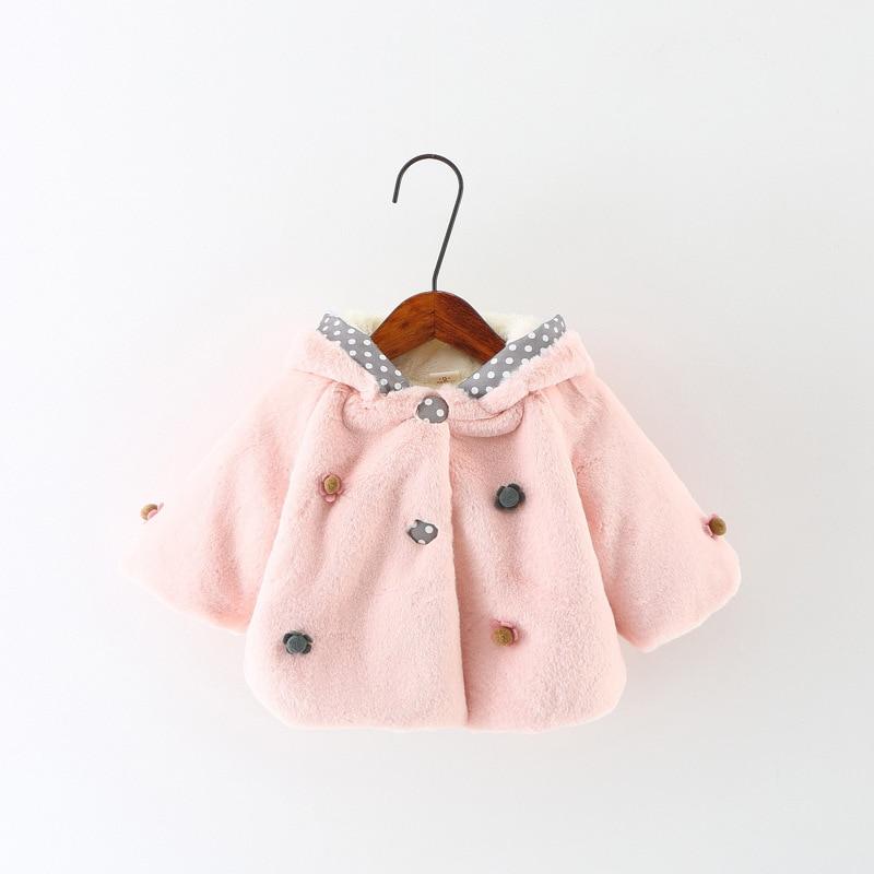 28a0f4c1a Winter Baby Girls Faux Fur Rabbit Ear Coat Girls Clothes Winter Fur ...