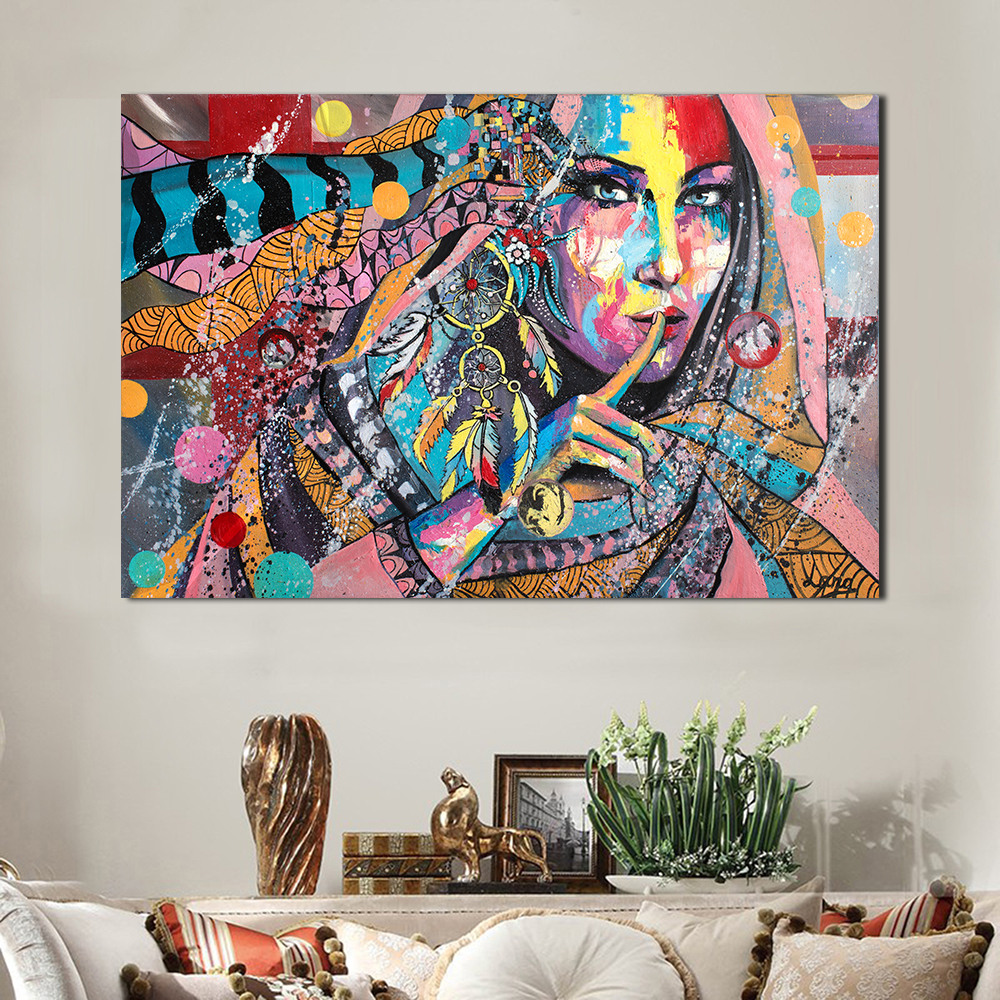 Jqhyart Modern Art Graffiti Sexy Voluptuous Beauty Paintings For Living Room Wall Canvas Home Deco No Framer Poster In Painting Calligraphy From Home