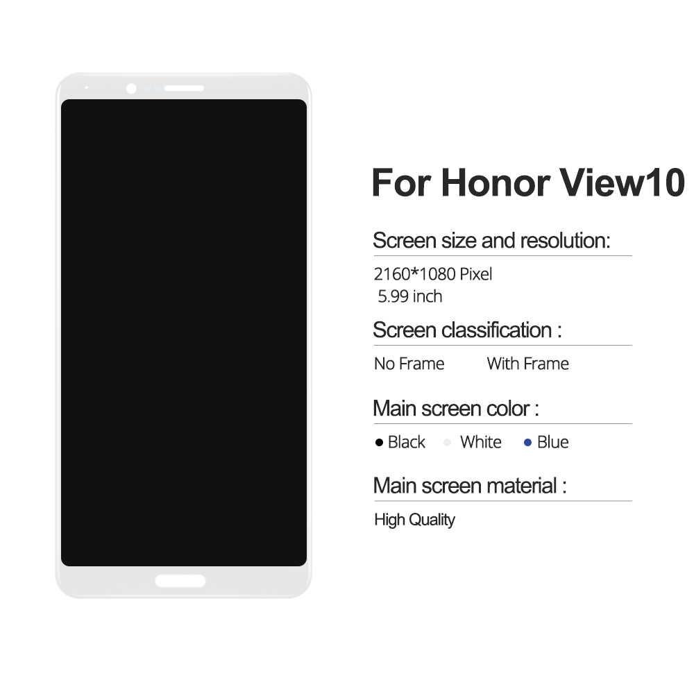 5.99 inch Cho Huawei Honor V10 BKL-AL00 BKL-AL20/Honor View 10 BKL-L09 MÀN HÌNH Hiển Thị LCD Bộ Số Hóa Cảm Ứng Với khung