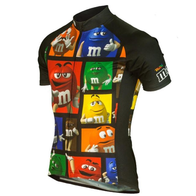 Men Summer Cartoon Funny Short Sleeve Cycling Jersey Wear Shirt Clothing Outdoor Mountain Road Bike Triathlon Bicycle Clothes